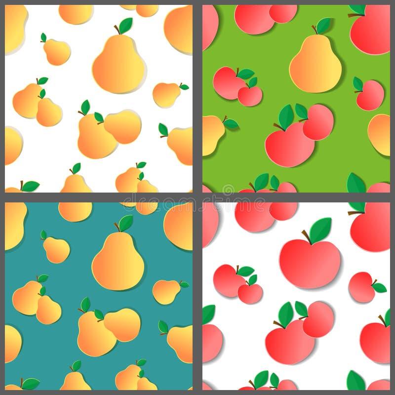 Σύνολο σχεδίων φρούτων απεικόνιση αποθεμάτων