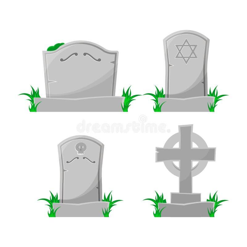 Σύνολο τάφου κινούμενων σχεδίων επίσης corel σύρετε το διάνυσμα απεικόνισης στοκ φωτογραφία