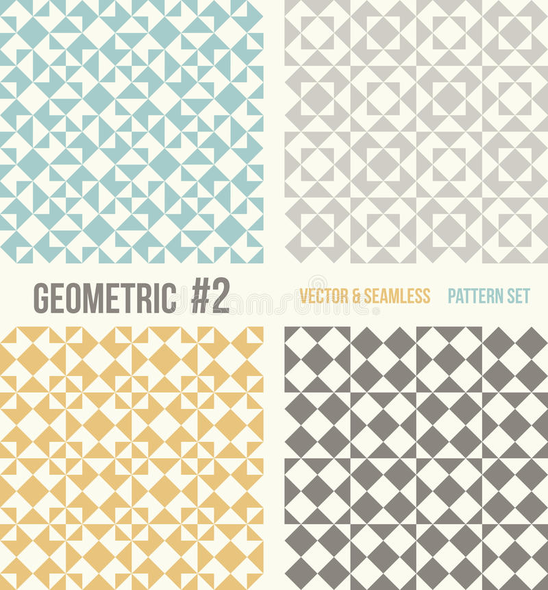 Σύνολο τεσσάρων γεωμετρικών σχεδίων απεικόνιση αποθεμάτων