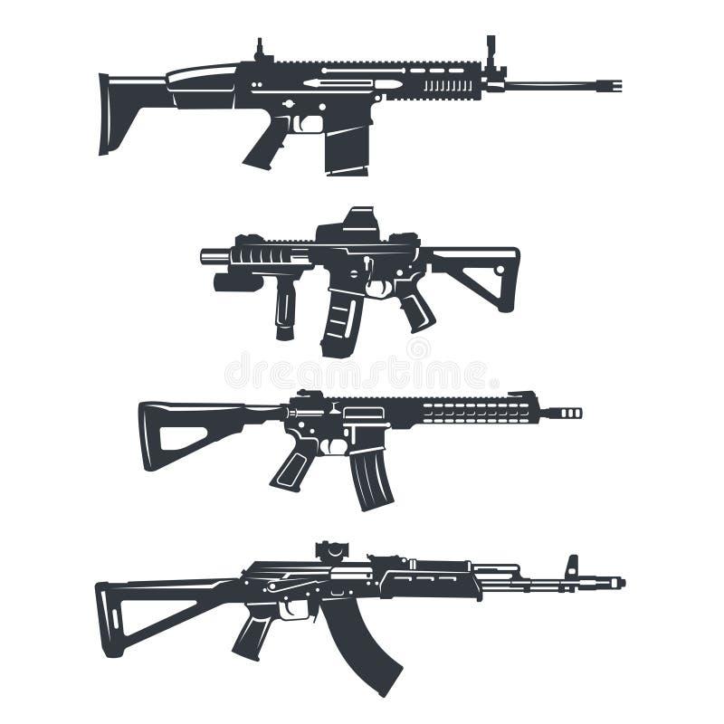 Σύνολο τουφεκιών όπλων ελεύθερη απεικόνιση δικαιώματος