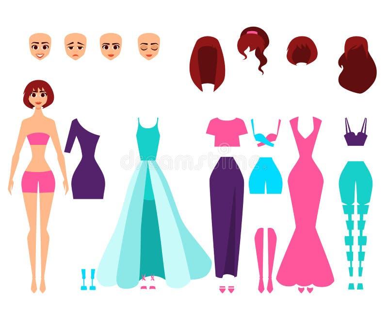 Σύνολο τραγουδιστών ή ηθοποιών δημιουργίας χαρακτήρα απεικόνιση αποθεμάτων