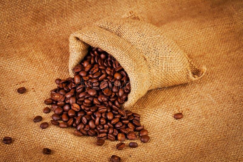 Σύνολο τσαντών σάκων των ψημένων φασολιών καφέ στοκ εικόνες με δικαίωμα ελεύθερης χρήσης