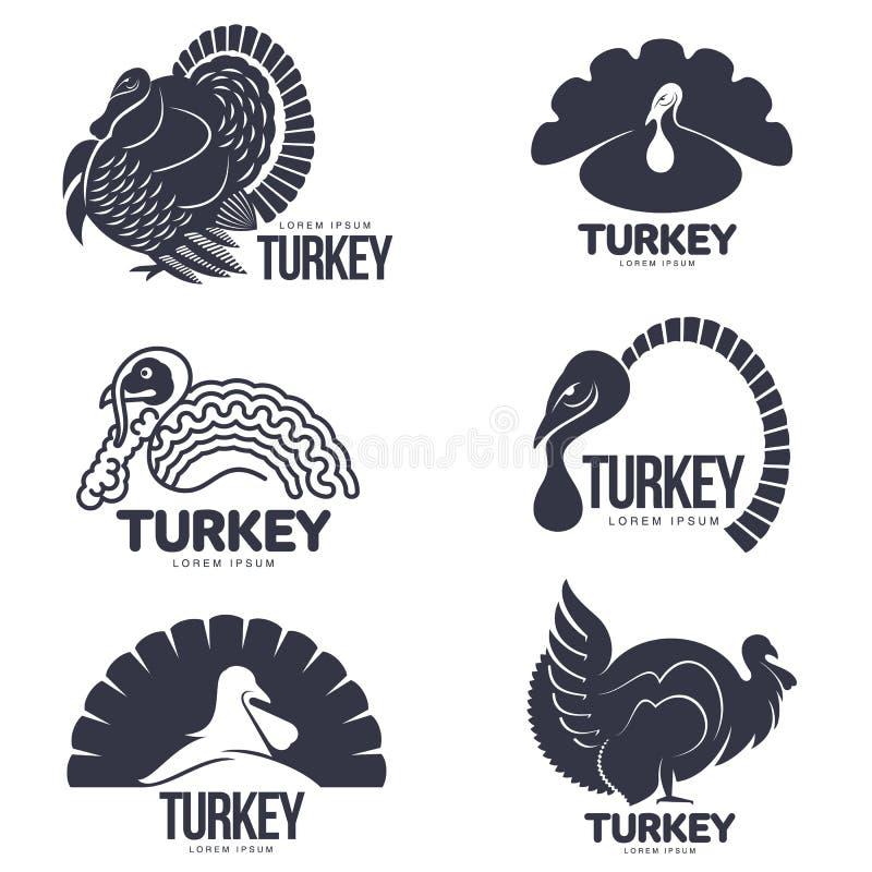Σύνολο τυποποιημένων γραφικών προτύπων λογότυπων της Τουρκίας ελεύθερη απεικόνιση δικαιώματος