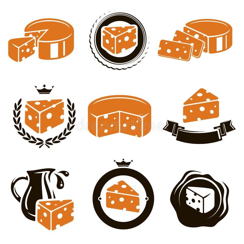 Σύνολο τυριών. Διάνυσμα απεικόνιση αποθεμάτων