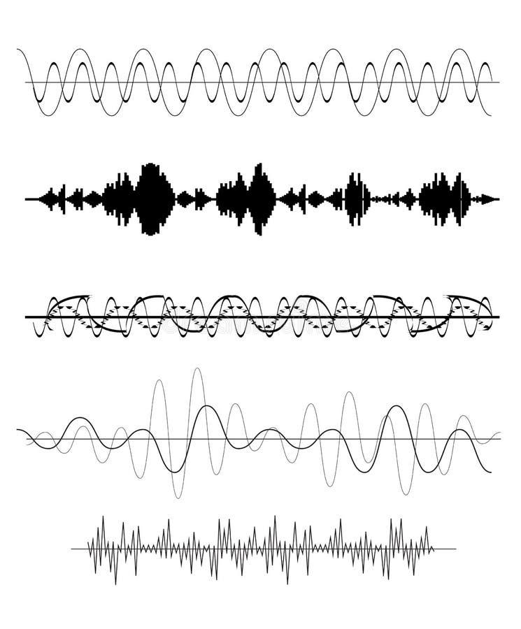 Σύνολο υγιούς κύματος επίσης corel σύρετε το διάνυσμα απεικόνισης διανυσματική απεικόνιση