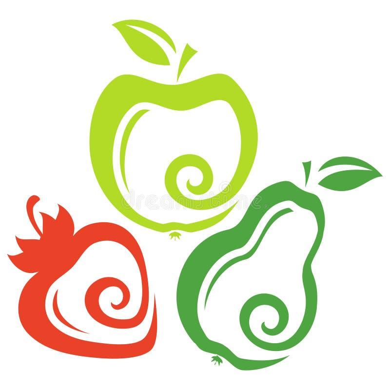 Σύνολο φρούτων απεικόνιση αποθεμάτων