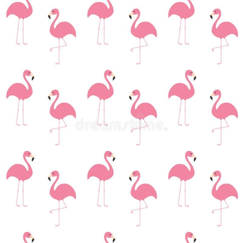 Σύνολο φλαμίγκο Άνευ ραφής εξωτικό τροπικό πουλί σχεδίων Ζωική συλλογή ζωολογικών κήπων Χαριτωμένος χαρακτήρας κινουμένων σχεδίων διανυσματική απεικόνιση
