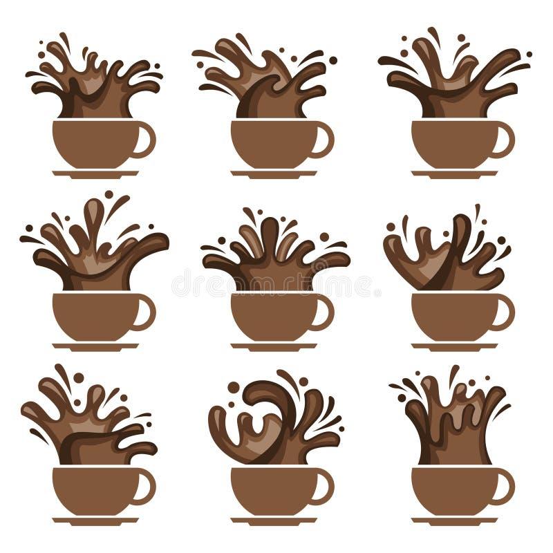 Σύνολο φλυτζανιών καφέ απεικόνιση αποθεμάτων