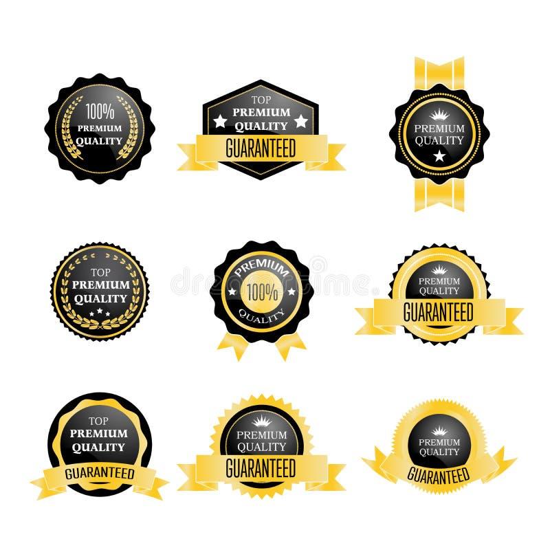 Σύνολο χρυσού διακριτικού εξαιρετικής ποιότητας απεικόνιση αποθεμάτων