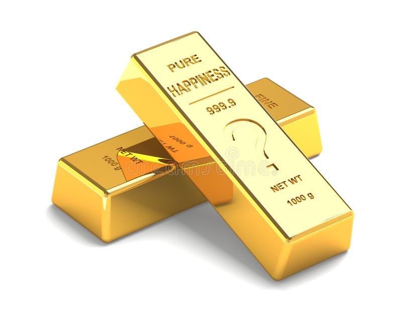 Σύνολο χρυσών φραγμών στο άσπρο υπόβαθρο διανυσματική απεικόνιση