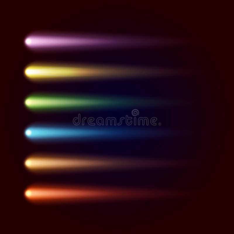 Σύνολο χρωματισμένων σημείων ράστερ διανυσματική απεικόνιση