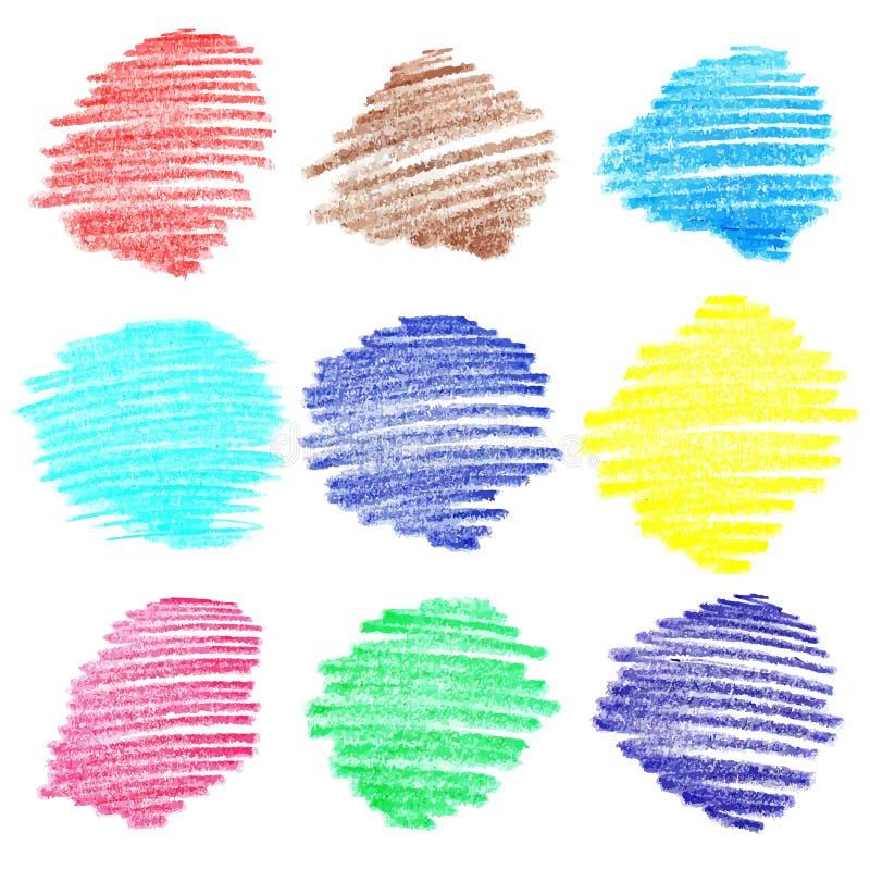 Σύνολο χρωματισμένων doodle εμβλημάτων σκίτσων απεικόνιση αποθεμάτων