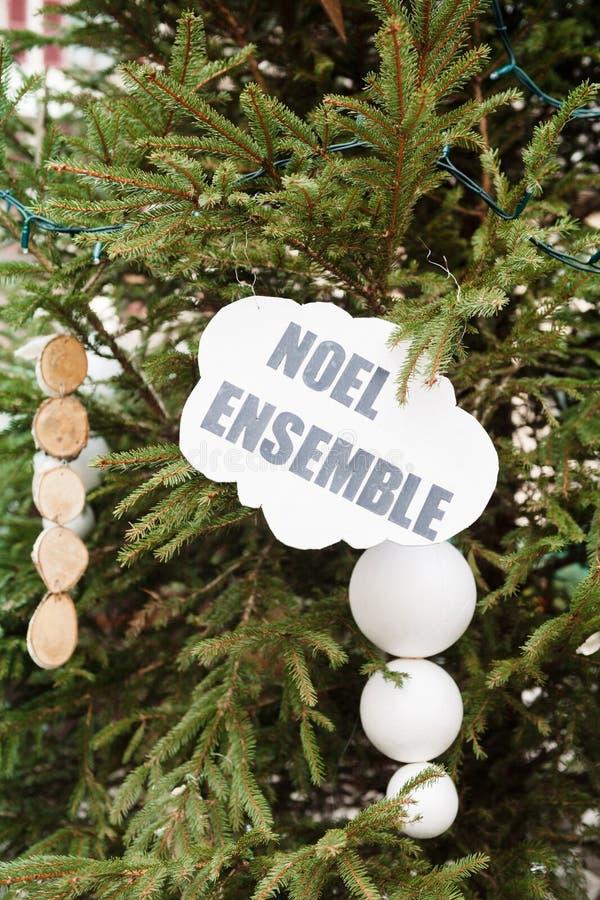Σύνολο Noel, Χριστούγεννα μαζί Γαλλία, Αλσατία στοκ φωτογραφία με δικαίωμα ελεύθερης χρήσης
