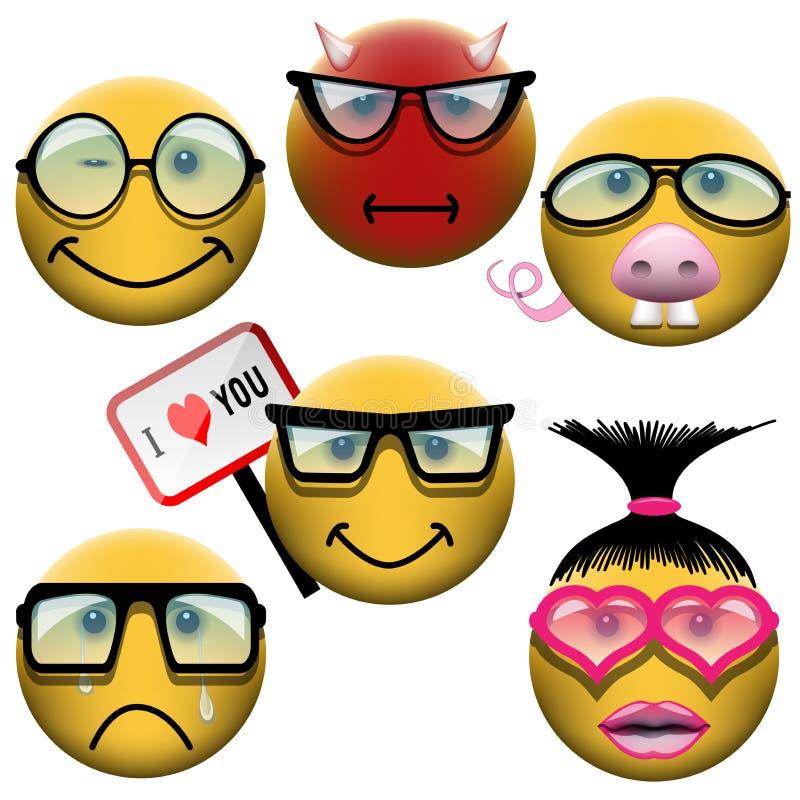 Σύνολο Smiley απεικόνιση αποθεμάτων
