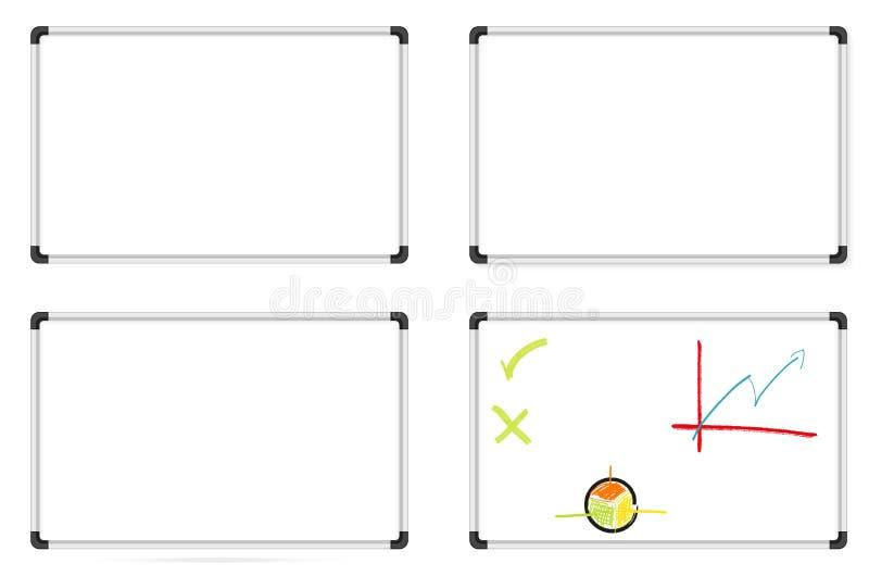 Σύνολο whiteboards ελεύθερη απεικόνιση δικαιώματος