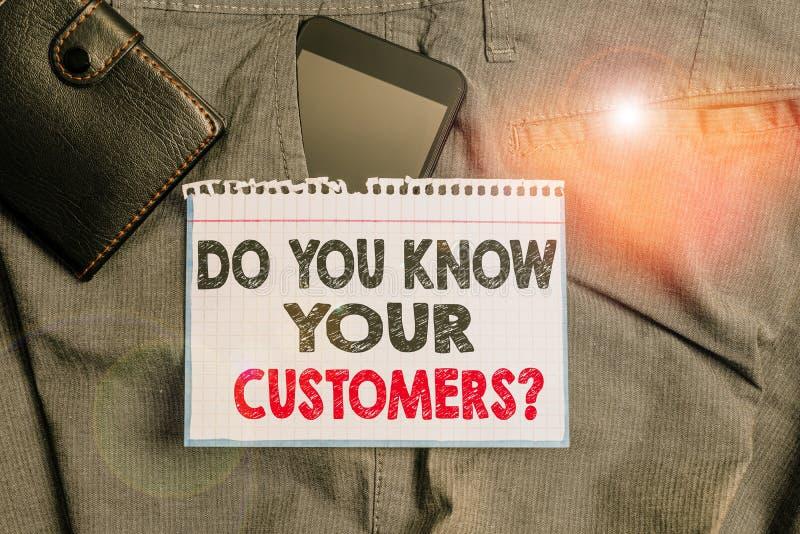 Σύνταξη σημείωσης που δείχνει αν γνωρίζετε ότι οι πελάτες σας ρωτούν Παρουσίαση επαγγελματικής φωτογραφίας που ζητά να αναγνωρίσε στοκ εικόνα