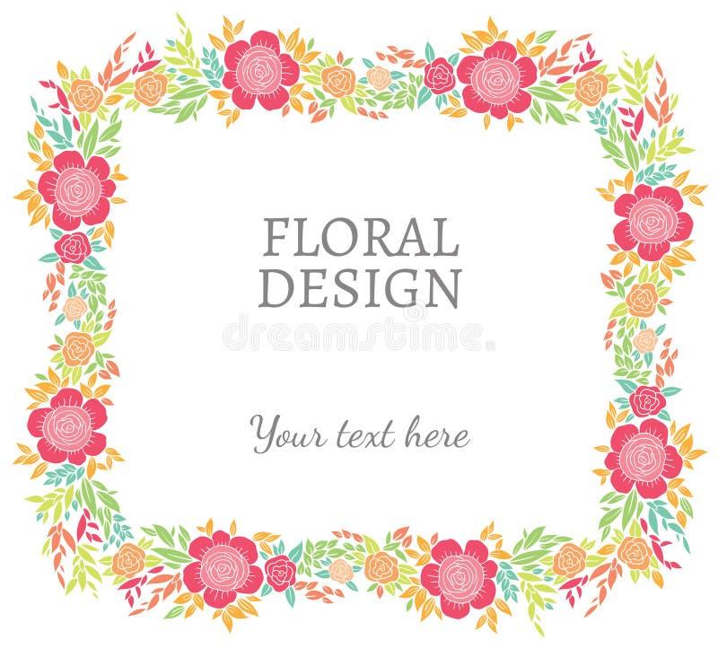 Σύντομα χρονογραφήματα, πλαίσιο ή σύνορα φύσης διανυσματικά floral απεικόνιση αποθεμάτων
