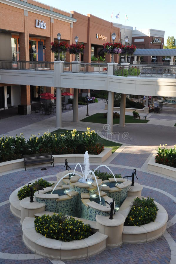 Σύντομο πόλης κέντρο αντλιών στη Βιρτζίνια στοκ φωτογραφία με δικαίωμα ελεύθερης χρήσης