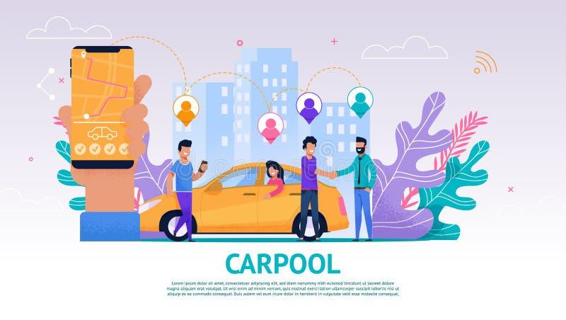 Σύντροφος ταξιδιού ανθρώπων ομάδας απεικόνισης εμβλημάτων διανυσματική απεικόνιση
