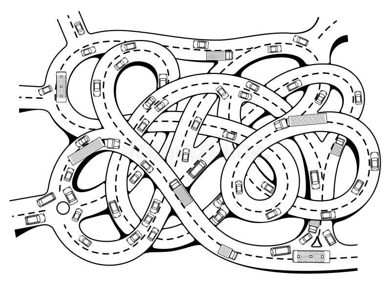 Σύνδεση εθνικών οδών διανυσματική απεικόνιση