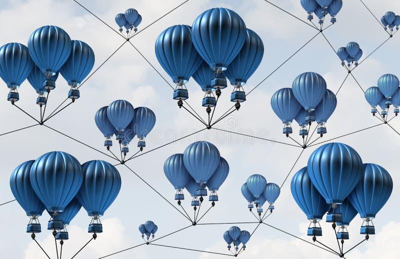 Σύνδεση δικτύων ομάδας διανυσματική απεικόνιση