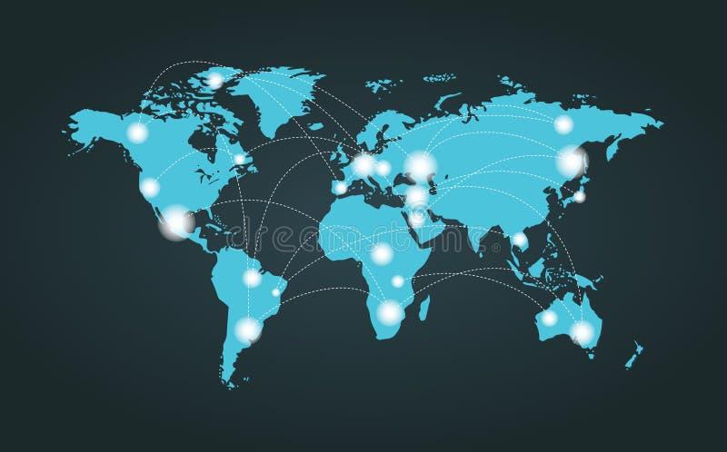 Σύνδεση παγκόσμιων χαρτών στοκ φωτογραφίες
