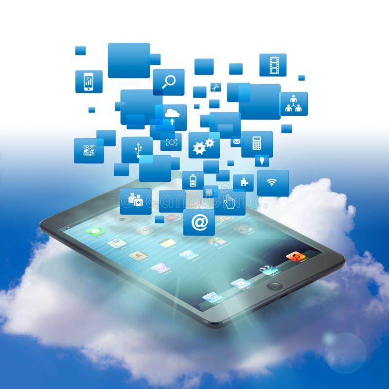 Σύνδεση σύννεφων Ιστού διανυσματική απεικόνιση