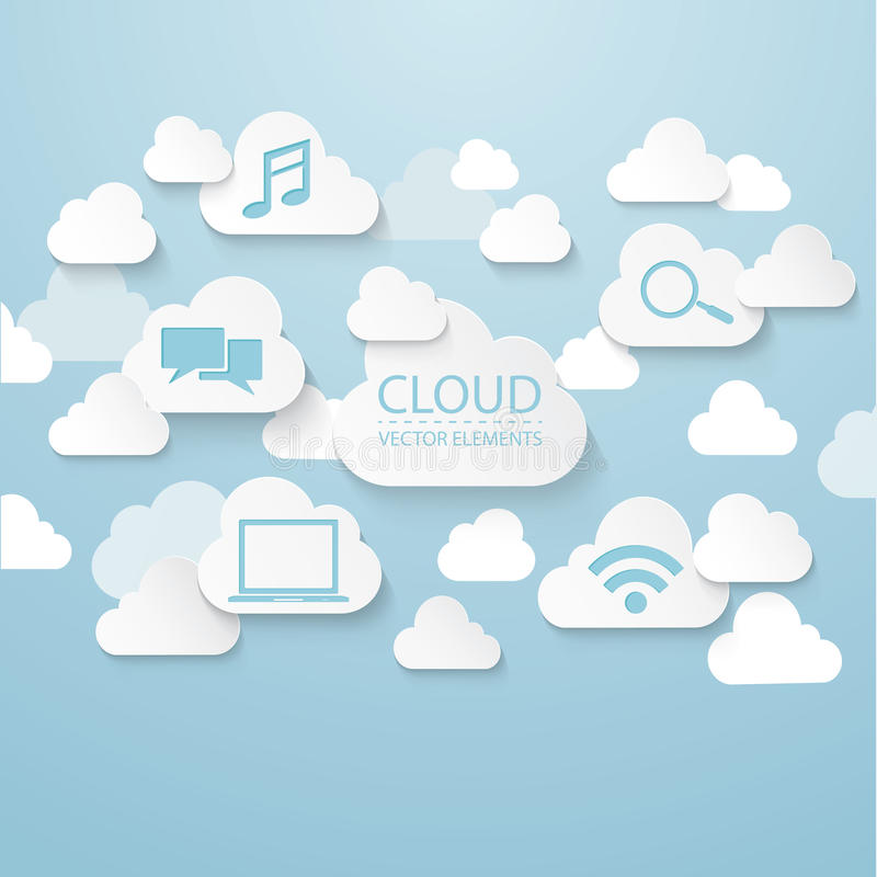 Σύνδεση σύννεφων ελεύθερη απεικόνιση δικαιώματος