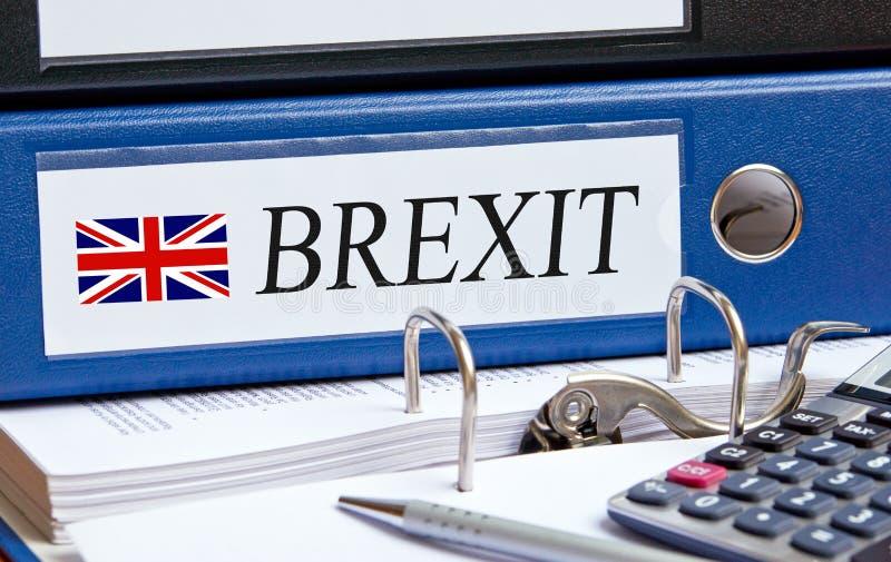 Σύνδεσμος Brexit στο γραφείο στοκ φωτογραφία με δικαίωμα ελεύθερης χρήσης