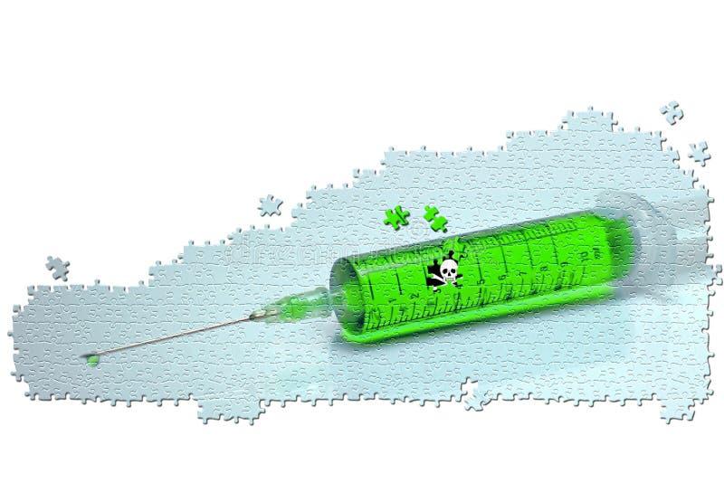 σύριγγα δηλητήριων στοκ εικόνα με δικαίωμα ελεύθερης χρήσης