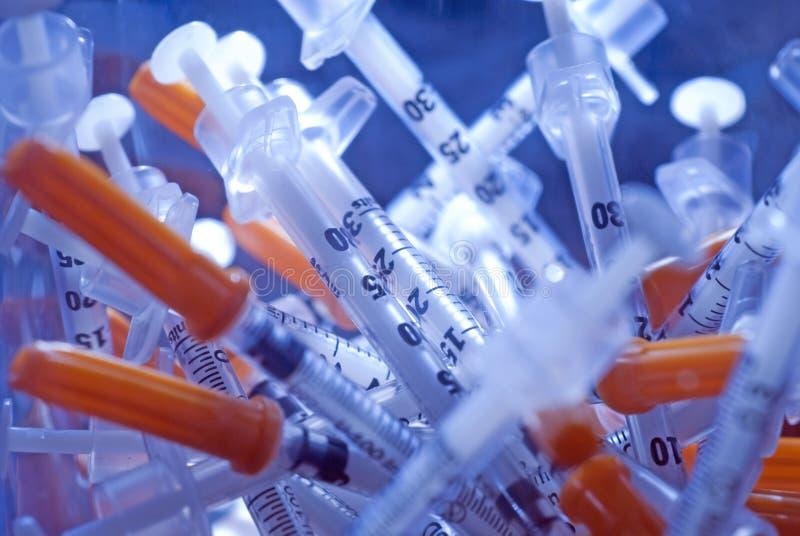 Σύριγγες για το διαβήτη στοκ φωτογραφία με δικαίωμα ελεύθερης χρήσης