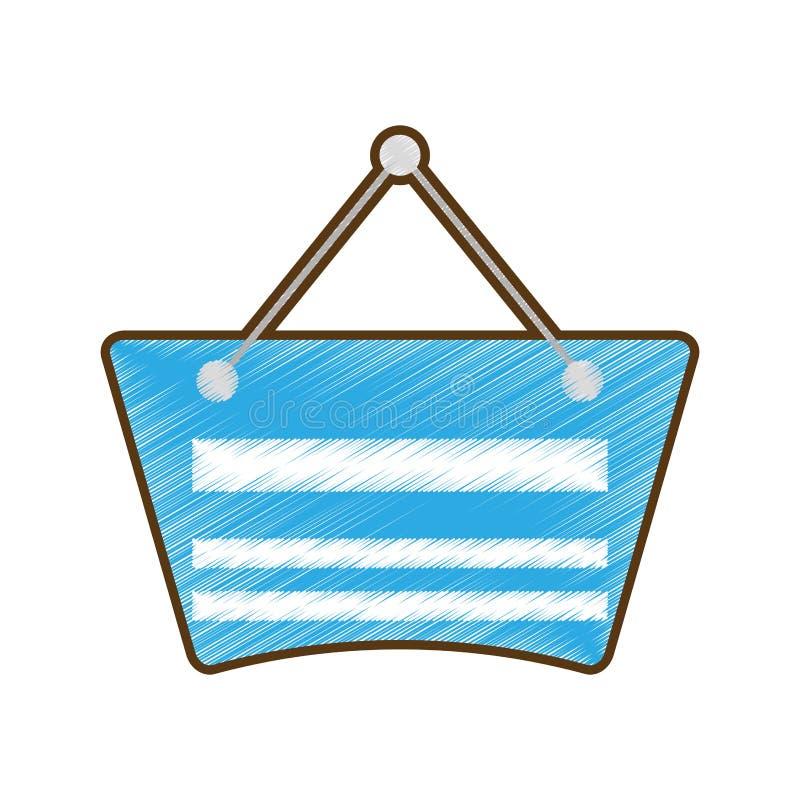 Σύροντας την μπλε ένωση ετικετών καρτών κενή απεικόνιση αποθεμάτων
