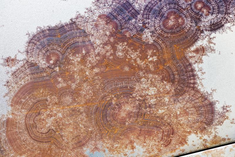 Σύσταση επιφάνειας του σκουριασμένου μετάλλου αφηρημένη ανασκόπηση στοκ εικόνα