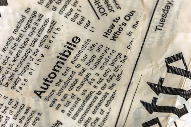 Σύσταση εφημερίδων Εκλεκτής ποιότητας υπόβαθρο εφημερίδων στοκ εικόνα
