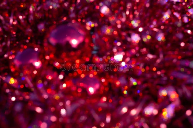 Σύσταση θαμπάδων υποβάθρου bokeh, βιολέτα, κίτρινη, ροζ, έξι πλευρές, κύκλος Αφηρημένο κόκκινο υπόβαθρο Χριστουγέννων Defocused ελεύθερη απεικόνιση δικαιώματος