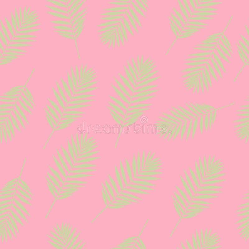 Σύσταση θερινών άνευ ραφής σχεδίων με τα τροπικά φύλλα Διανυσματικό κλωστοϋφαντουργικό προϊόν, τύλιγμα, ταπετσαρία, υπόβαθρο απεικόνιση αποθεμάτων