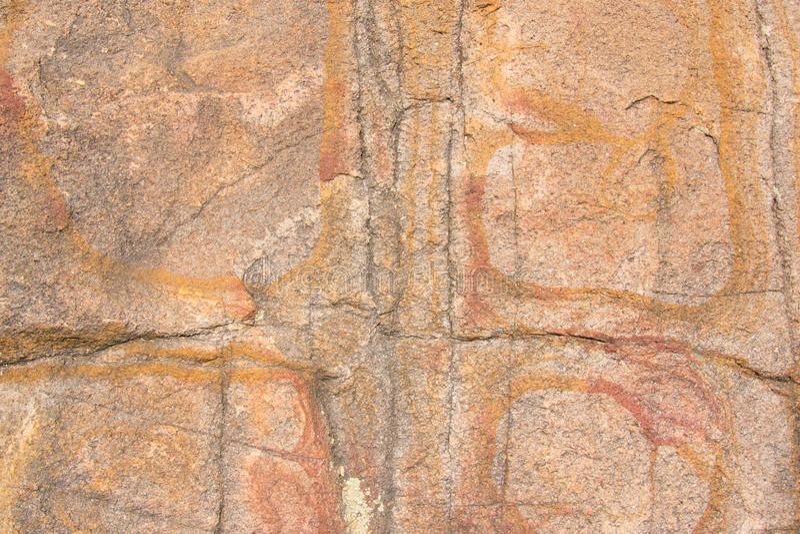 Σύσταση κινηματογραφήσεων σε πρώτο πλάνο του βράχου γρανίτη στοκ φωτογραφία με δικαίωμα ελεύθερης χρήσης