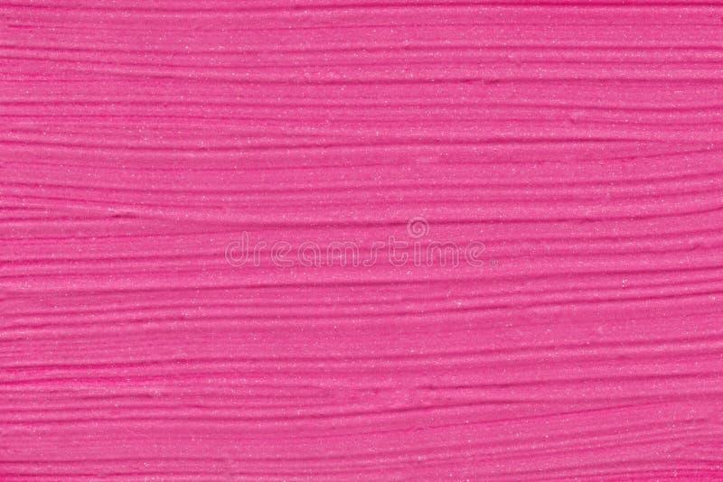 Σύσταση κραγιόν Ρόδινο shimmer smudge κραγιόν υπόβαθρο στοκ εικόνες