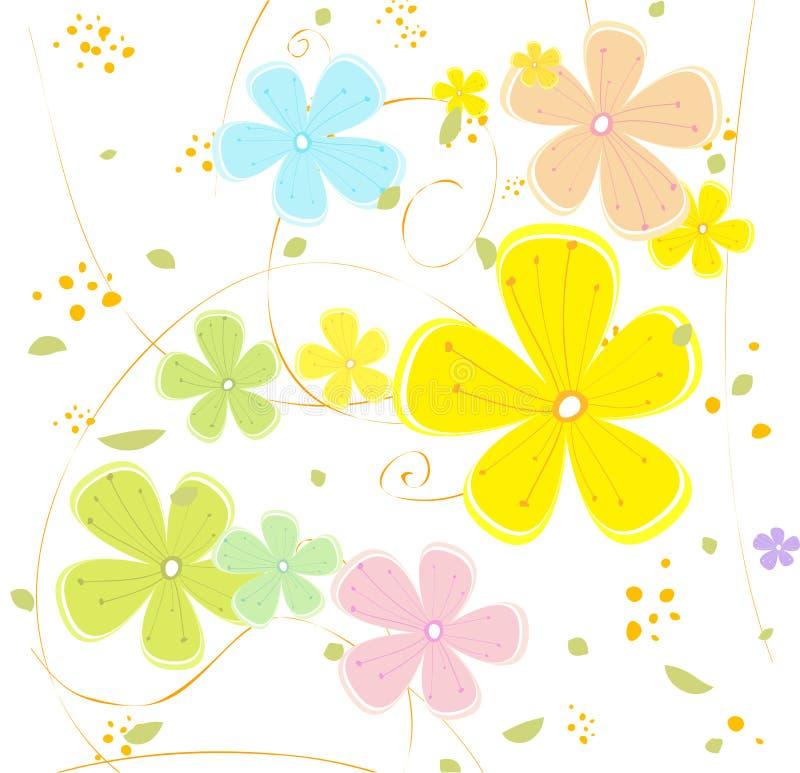 σύσταση λουλουδιών διανυσματική απεικόνιση