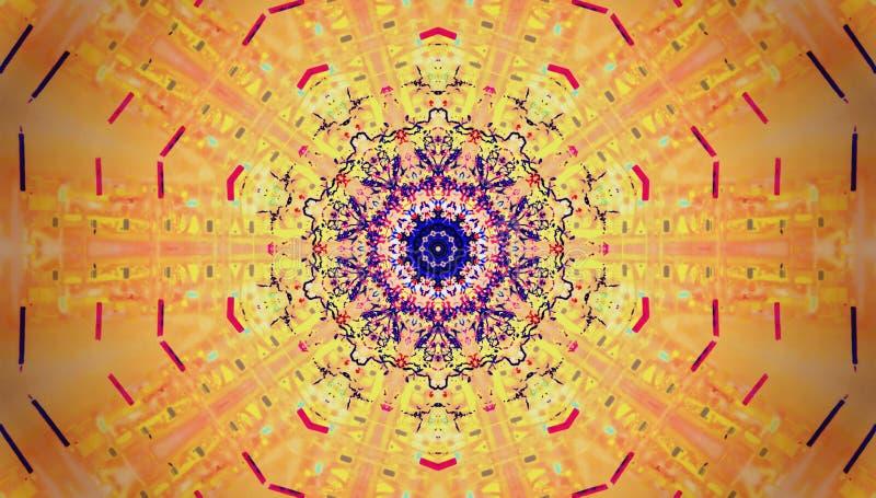 Σύσταση, μάντρα, κύκλος, γραμμές σε πολλά χρώματα διανυσματική απεικόνιση