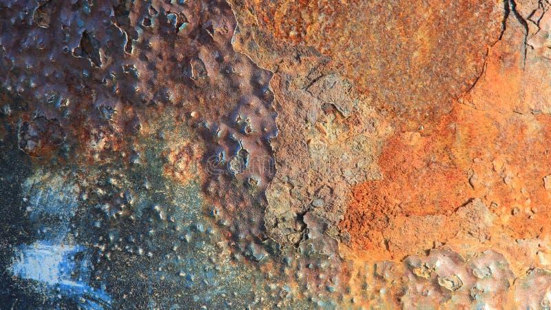 Σύσταση μετάλλων και σκουριασμένος Ζωηρόχρωμος σκουριασμένου στοκ εικόνες