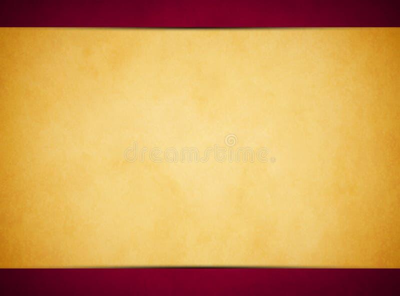 Σύσταση περγαμηνής της Tan Πλούσια κόκκινη επιγραφή και υποσημείωση στοκ εικόνες με δικαίωμα ελεύθερης χρήσης