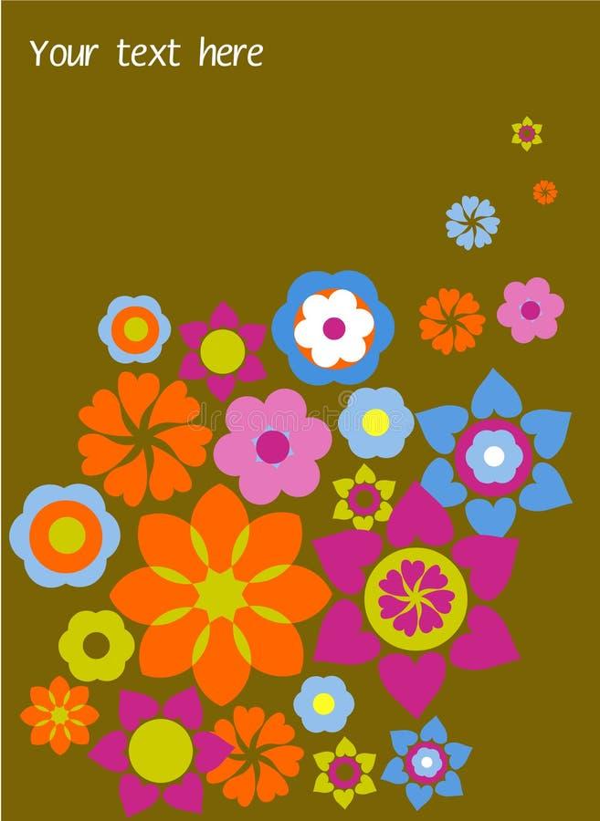 Σύσταση, πρότυπο με τα λουλούδια διανυσματική απεικόνιση