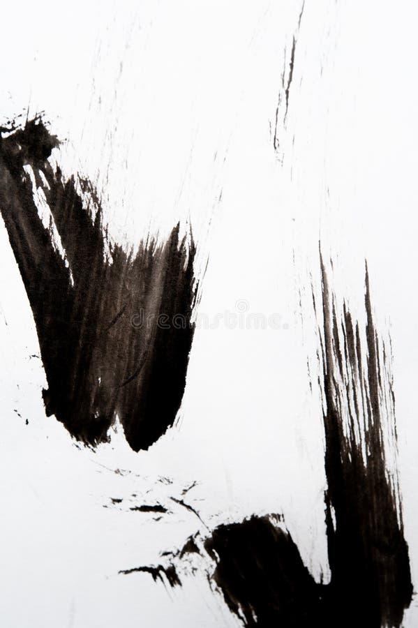 Σύσταση της ιαπωνικής καλλιγραφίας και του άσπρου ψεκασμού χρώματος στοκ εικόνες