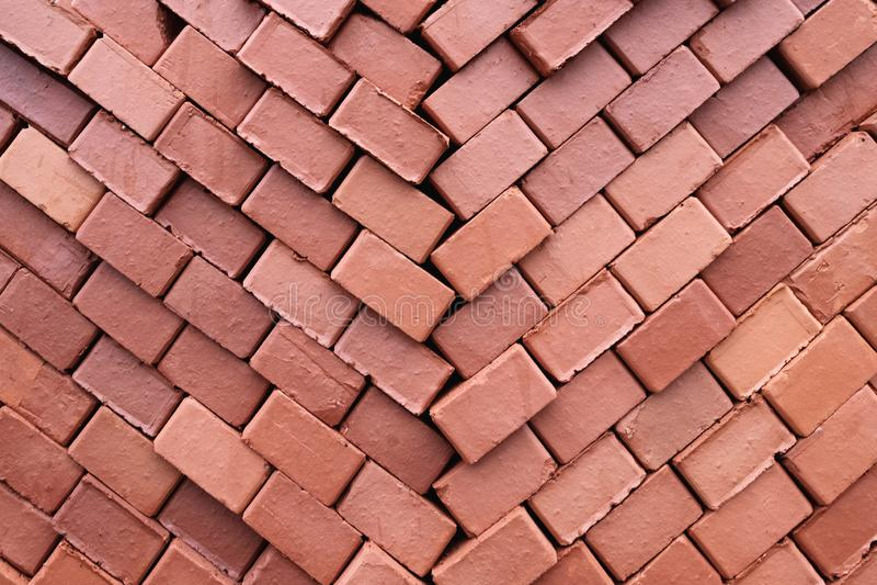 Σύσταση της οικοδόμησης των τούβλων που διπλώνονται για την αποθήκευση στοκ φωτογραφία