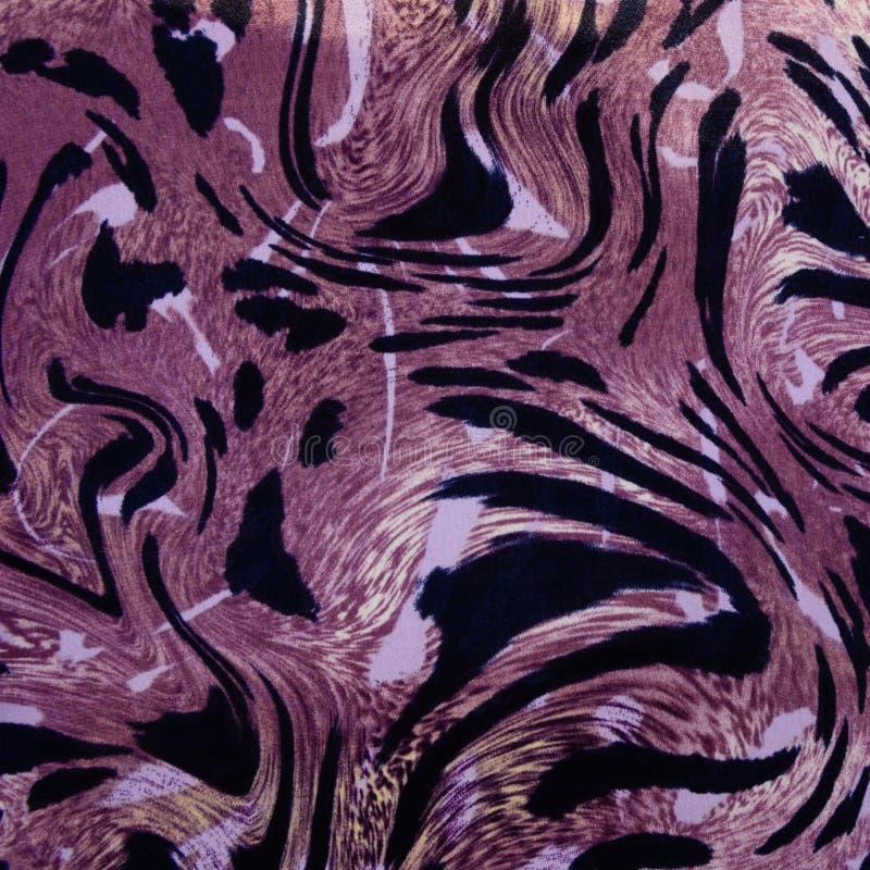 Σύσταση της ριγωτής λεοπάρδαλης υφάσματος τυπωμένων υλών στοκ εικόνες