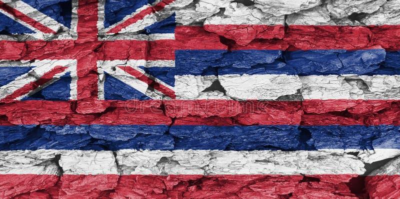 Σύσταση της σημαίας της Χαβάης στοκ εικόνα με δικαίωμα ελεύθερης χρήσης