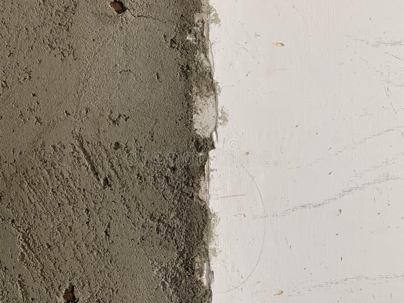 Σύσταση τοίχων με τις φυσικές ατέλειες, γρατσουνιές, ρωγμές, ρωγμές, τσιπ, σκόνη, τραχύτητα Συμπαγής τοίχος τσιμέντου και παλαιό  στοκ εικόνες