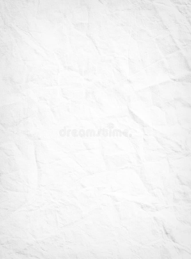 Σύσταση του άσπρου τσαλακωμένου εγγράφου, άσπρο γκρίζο υπόβαθρο, σχέδιο, PA στοκ φωτογραφίες με δικαίωμα ελεύθερης χρήσης