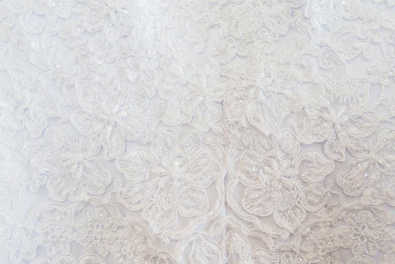 Σύσταση του γαμήλιου φορέματος στοκ φωτογραφίες με δικαίωμα ελεύθερης χρήσης